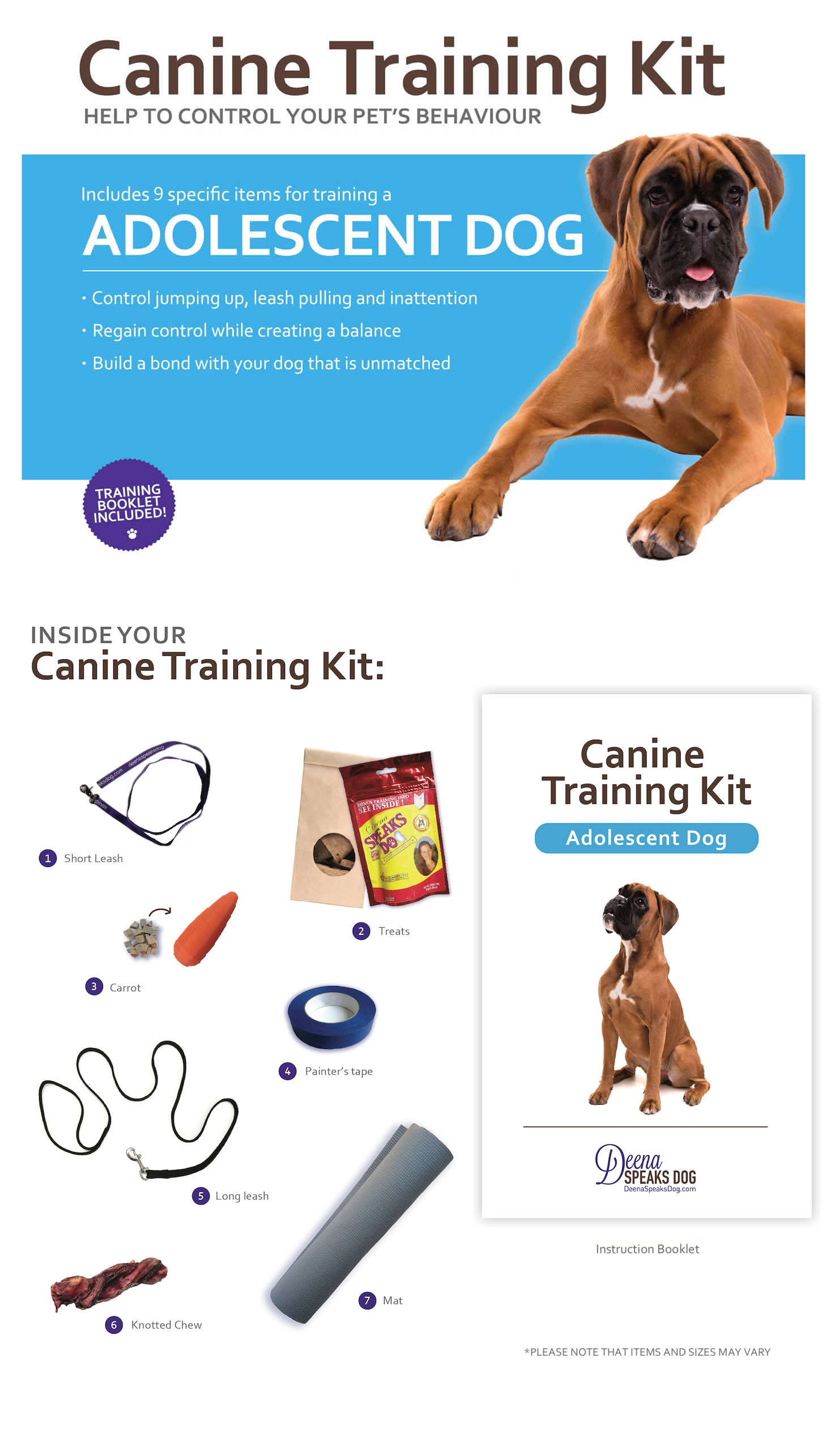 Adolescent Dog Training Kit
